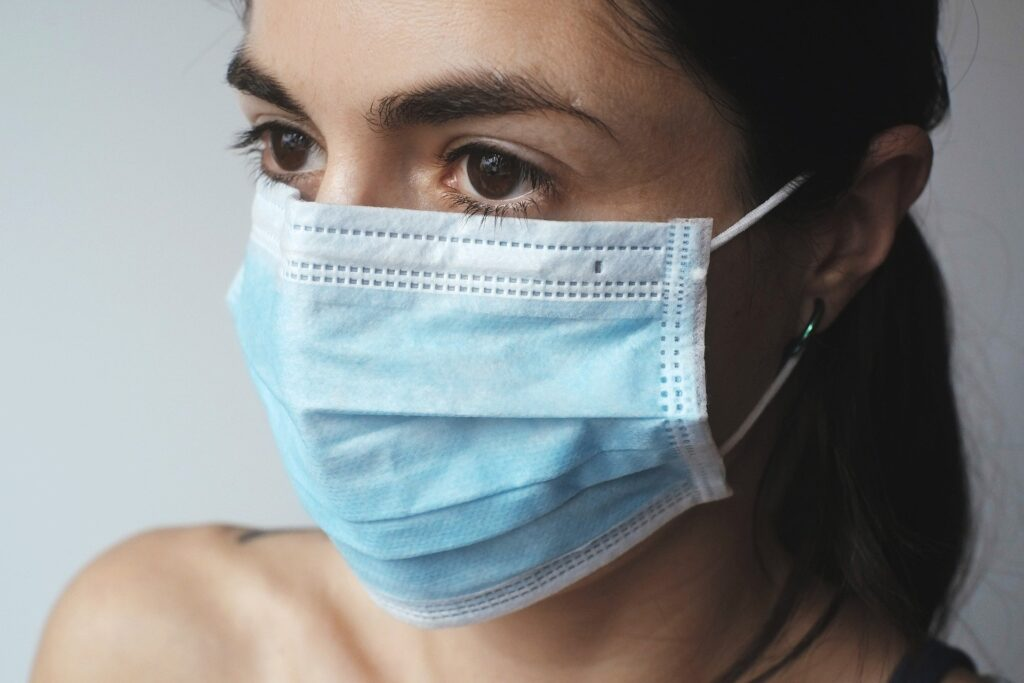 huidirritatie mondkapje
